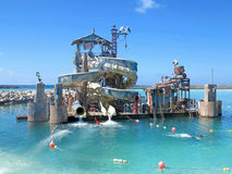 Castaway Cay Water Slides Royalty Free Stock Images