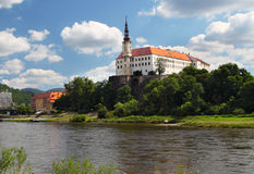 Caste in city Decin Royalty Free Stock Photo
