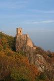 Caste ruin Ribeauville. Ruin Castle on the Rock Royalty Free Stock Photos