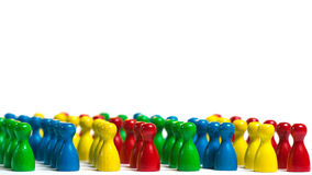 Caste system. Group of individuals shows the still existing caste system, people are lining up Royalty Free Stock Photos