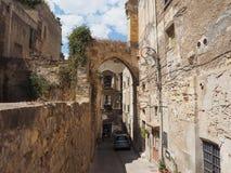 Casteddu die (Kasteelkwart betekenen) in Cagliari royalty-vrije stock afbeelding