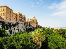 Casteddu (meaning Castle quarter) in Cagliari (hdr) Royalty Free Stock Photos