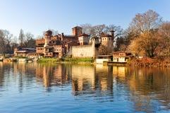 castel中世纪都灵 库存照片