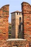 Castel在维罗纳。 库存图片