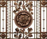 castel金属入口的网格 库存照片
