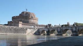 Castel Ángel sant en Roma almacen de metraje de vídeo