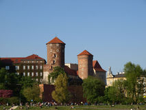 castel λόφος Κρακοβία wawel Στοκ Φωτογραφία