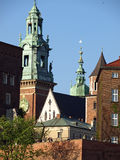 castel λόφος Κρακοβία wawel Στοκ Φωτογραφίες