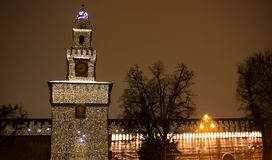 castel Μιλάνο ένα sforzesco Στοκ Εικόνες