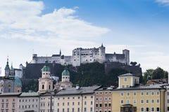 Castel Зальцбурга стоковая фотография rf