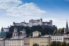 Castel Зальцбурга стоковое изображение rf