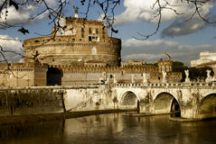 castel Италия rome моста angelo sant Стоковая Фотография RF