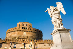 castel Италия rome angelo sant Стоковая Фотография