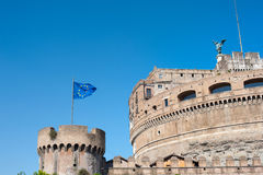 Castel Angelo sant en point de repère médiéval célèbre d'Européen de Rome Images libres de droits