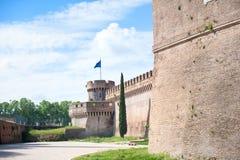 Castel Angelo sant en point de repère médiéval célèbre d'Européen de Rome Photo stock