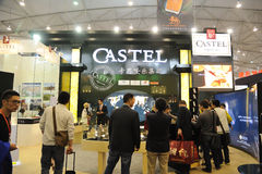 Castel booth.  Stock Image