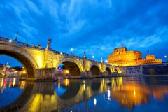 Castel Sant Angelo in Rome Royalty Free Stock Photos