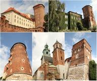 castel Cracow Poland królewski wawel Obrazy Stock