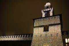 castel cztery Milano sforzesco zdjęcia stock