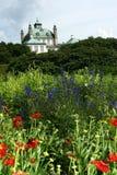 Castel de Fredensborg, casa do jardim da rainha Fotos de Stock