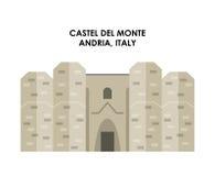 Castel de monte icon. Italy culture design. Vector graphic Stock Photos