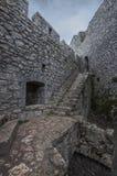 Castel de Peyrepertuse in Aude, Frankrijk stock fotografie