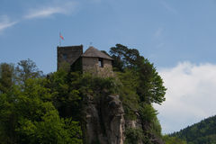 Castel de Werfenstein empoleirado sobre Fotos de Stock Royalty Free