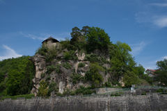 Castel de Werfenstein empoleirado sobre Fotos de Stock