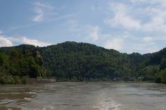 Castel de Werfenstein sobre el Danubio Foto de archivo