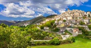 Castel del Monte阿布鲁佐,意大利 库存照片