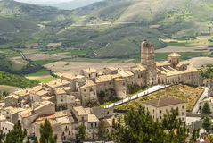 castel del Monte,全景 免版税库存图片