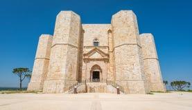 Castel del Monte, διάσημο μεσαιωνικό φρούριο σε Apulia, νότια Ιταλία Στοκ φωτογραφίες με δικαίωμα ελεύθερης χρήσης