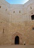 Castel del Monte - προαύλιο, Apulia, Ιταλία Στοκ Εικόνες