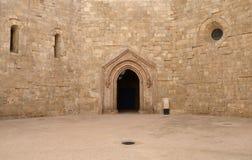 Castel del Monte - προαύλιο, Apulia, Ιταλία Στοκ εικόνα με δικαίωμα ελεύθερης χρήσης