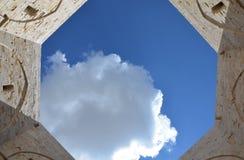 Castel del Monte - προαύλιο, Apulia, Ιταλία Στοκ εικόνες με δικαίωμα ελεύθερης χρήσης