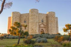 Castel del Monte Andria, slottberg Arkivfoton