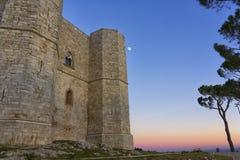 Castel del Monte Andria, slottberg Arkivfoto