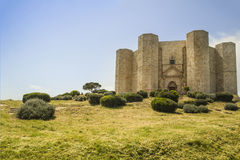 Castel del monte, apulia,italy,view Royalty Free Stock Photos