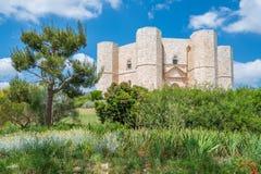 Castel del Monte berömd medeltida fästning i Apulia, sydliga Italien Arkivbild