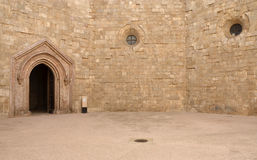 Castel del Monte - courtyard, Apulia, Italy Royalty Free Stock Photography