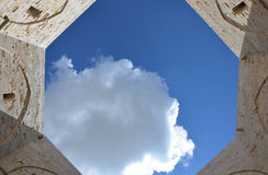 Castel del Monte - courtyard, Apulia, Italy Royalty Free Stock Images