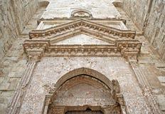 Castel Del Monte - Eingang Stockfoto