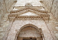 Castel del Monte - entrance. Castel del Monte in Italy - entrance facade (detail&#x29 Stock Photo