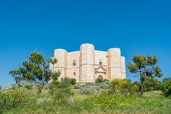 Castel del Monte, famous medieval fortress in Apulia, southern Italy. Royalty Free Stock Photos