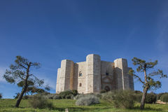 Castel Del Monte on a hilltop in Puglia Royalty Free Stock Photo
