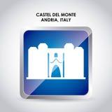 Castel del monte icon. Italy culture design. Vector graphic Royalty Free Stock Photography