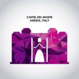 Castel del monte icon. Italy culture design. Vector graphic Royalty Free Stock Photos