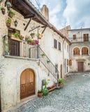 Castel del Monte L `-Aquila landskap, Abruzzo Italien Royaltyfria Bilder