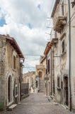 Castel del Monte L `-Aquila landskap, Abruzzo Italien Arkivbild