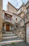 Castel del Monte L `-Aquila landskap, Abruzzo Italien Royaltyfri Fotografi